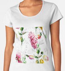 Seamless pattern with wild flowers Women's Premium T-Shirt