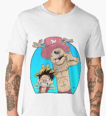Monkey D. Luffy & Chopper vs Calvin & Hobbes Men's Premium T-Shirt