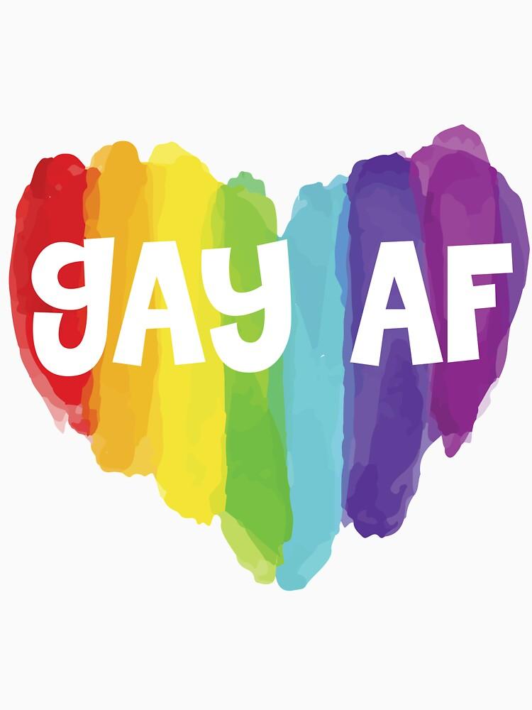 GAY AF LGBT Proud to be Lesbian Gay Bisexual Transgender by ColeLaniTrading