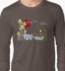 Elephant Family In The Forest Long Sleeve T-Shirt