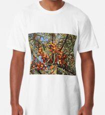 Sea buckthorn - Hippophae rhamnoides. A tasty seaside fruit Long T-Shirt
