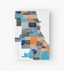 Chicago Map - Blue & Orange Hardcover Journal