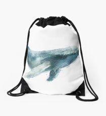 Humpback Whale Drawstring Bag