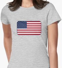 American Flag Women's Fitted T-Shirt
