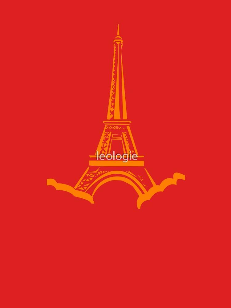 Orange Eiffel Tower by leologie