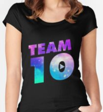 Galaxy team 10- jake paul Women's Fitted Scoop T-Shirt