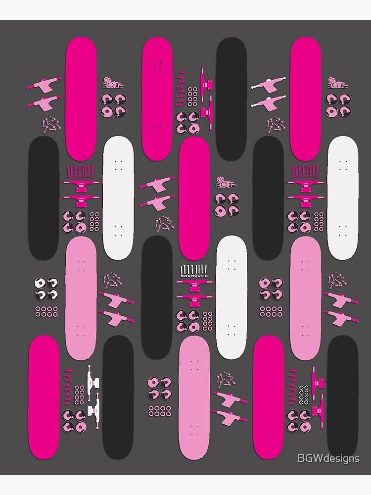 Skateboard Assembly Pattern (PNK) | Poster