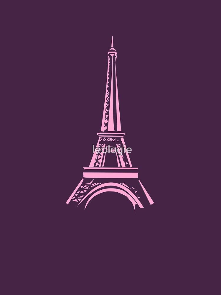 Pink Eiffel Tower by leologie