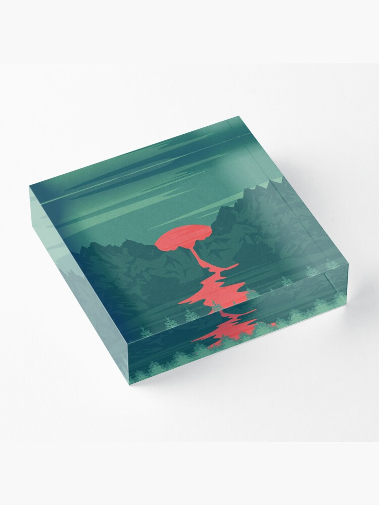 Alternate view of The Red River Acrylic Block