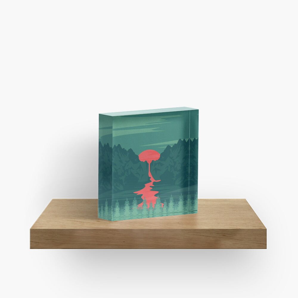 The Red River Acrylic Block