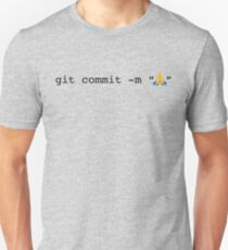 git commit prayer hands emoji Unisex T-Shirt