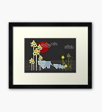 Elephant Family In The Forest Framed Print