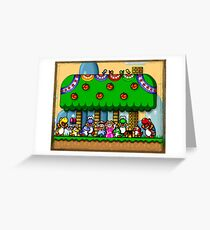 Super Mario World Greeting Card