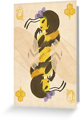 Print queen bee of clubs greeting cards by teighlor chaney print queen bee of clubs by teighlor chaney m4hsunfo