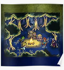 Chrono Trigger Camping Scene Poster