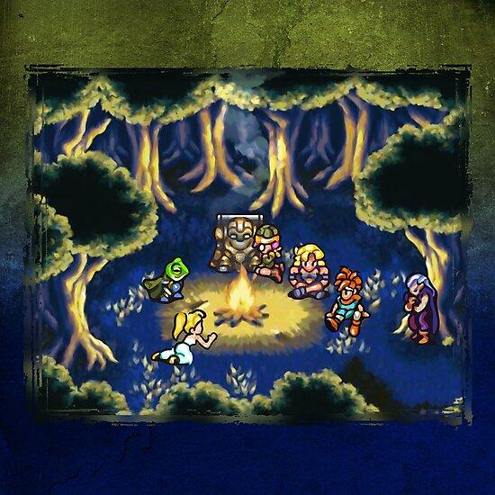 Chrono Trigger Camping Scene by likelikes