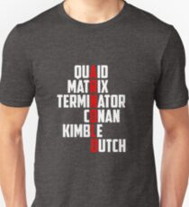 The Movies of Arnold Schwarzenegger - design inspired by his movie characters T-Shirt