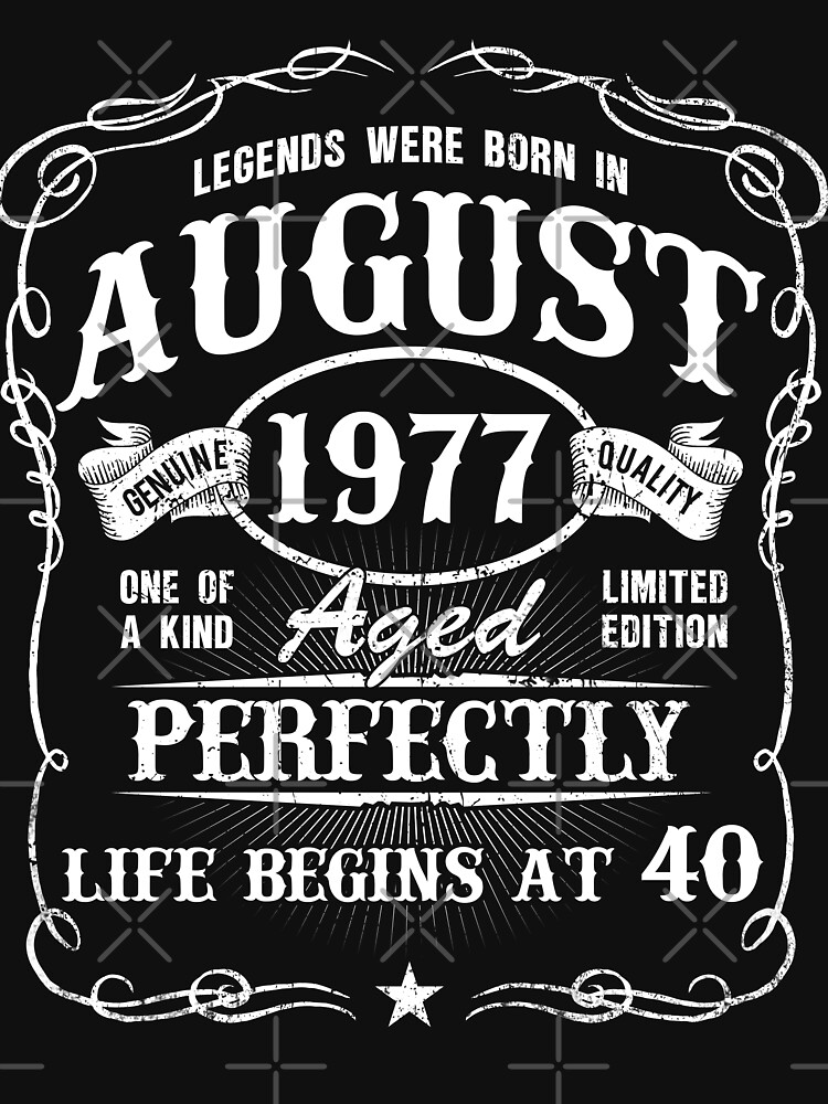 Born In August 1977 Legends were born in August  by dragts