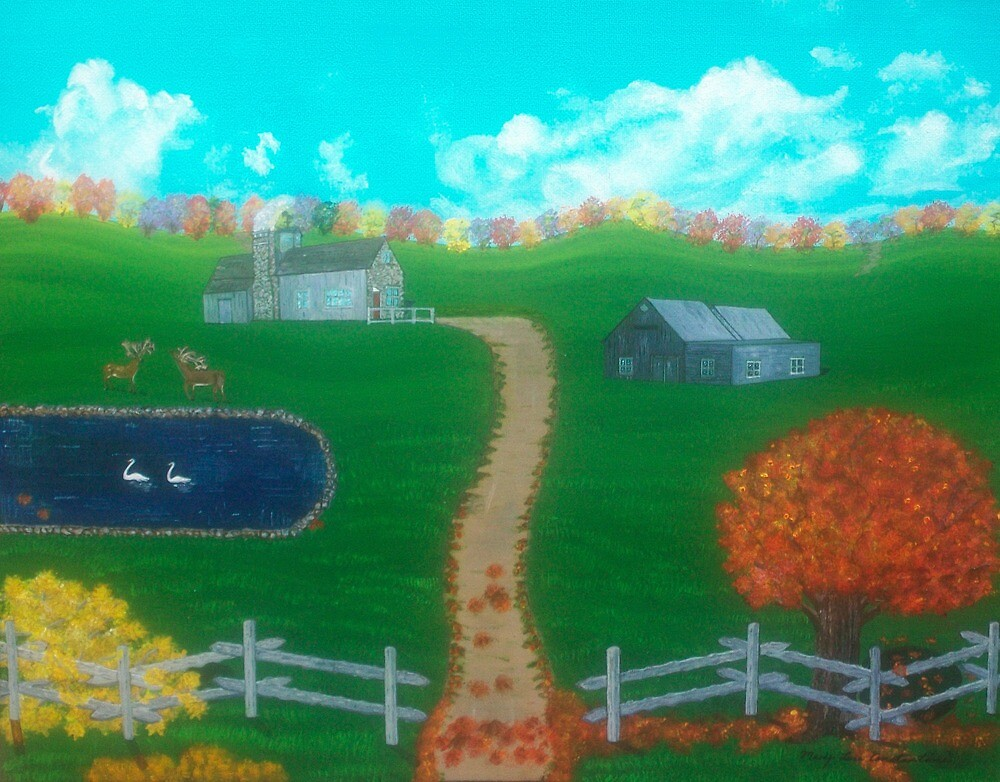 Hidden Hills Farm In Autumn by MConstantine