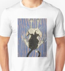 Help!   cat  black and white  acrylic painting T-Shirt