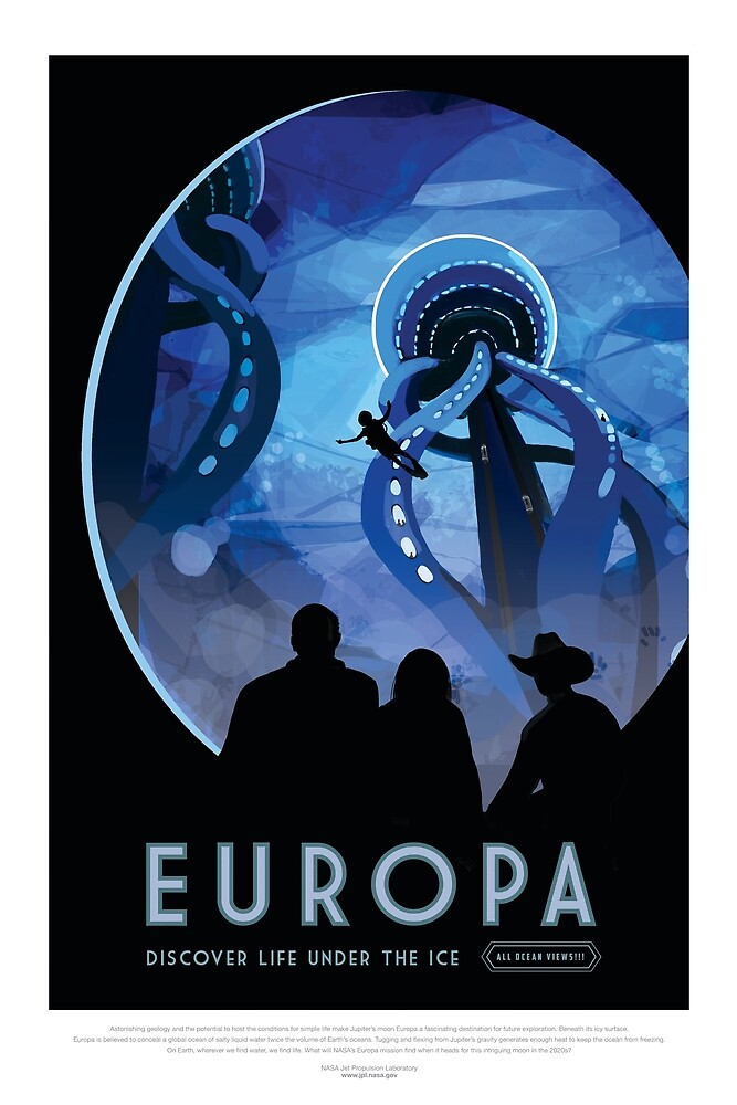 NASA Fantasy Travel to Europa by HeadRubble