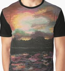 Sunset Over the Lake Graphic T-Shirt
