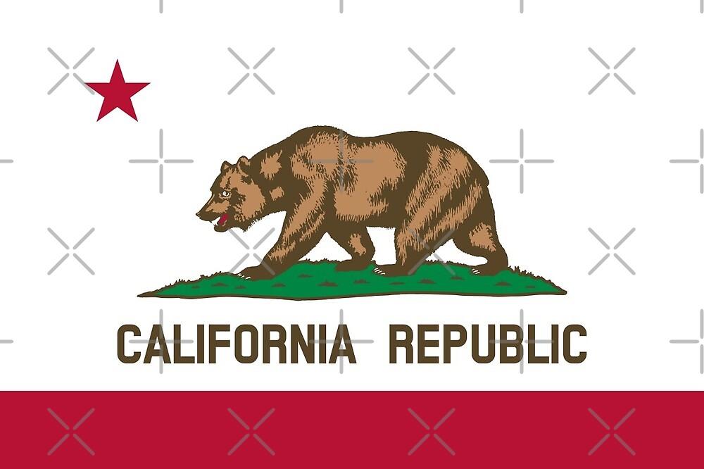Flag of California by Antonio  Silveira