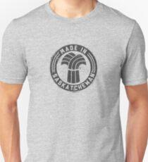 Made in Saskatchewan Grunge Dark Logo Unisex T-Shirt
