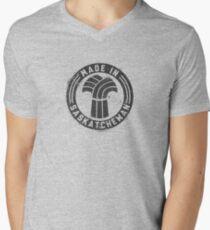 Made in Saskatchewan Grunge Dark Logo Men's V-Neck T-Shirt