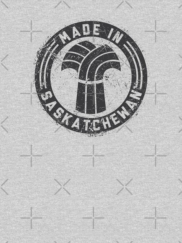 Made in Saskatchewan Grunge Dark Logo by madeinsask