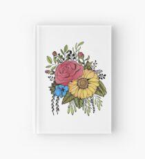 SUNFLOWER & ROSE Hardcover Journal