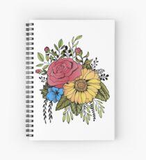SUNFLOWER & ROSE Spiral Notebook
