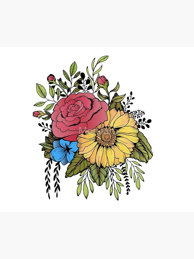 SUNFLOWER & ROSE by MonJaro