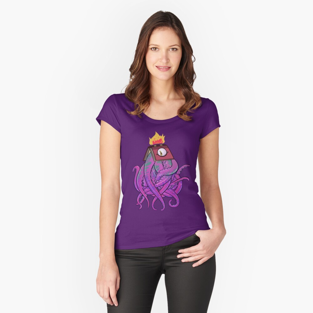 Booktopus Fitted Scoop T-Shirt