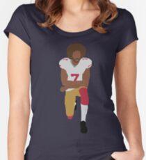 Kneeling Kaepernick Women's Fitted Scoop T-Shirt