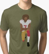 Kneeling Kaepernick Tri-blend T-Shirt