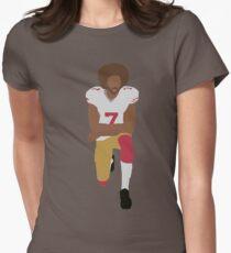 Kneeling Kaepernick Women's Fitted T-Shirt