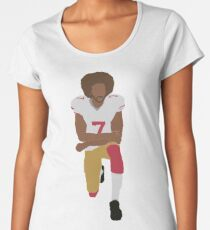 Kneeling Kaepernick Premium Scoop T-Shirt