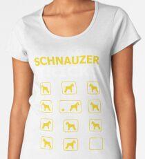 Stubborn Schnauzer Dog Tricks Funny Tshirt Women's Premium T-Shirt