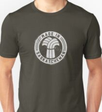 Made in Saskatchewan Grunge Light Logo Unisex T-Shirt