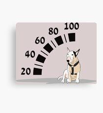 Bull Terrier Motor Canvas Print