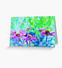 Color in green and blue back my flower Greeting Card