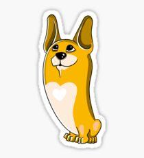 Portrait of Pembroke Welsh Corgi Dog.  Sticker