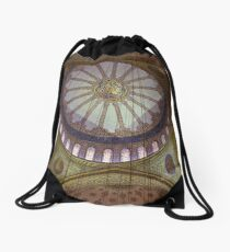 Looking Up in the Blue Mosque Drawstring Bag