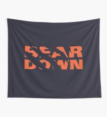 Chicago Bears - Bear Down - Claw Tear Wall Tapestry