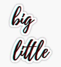 retro 3D - big little Sticker