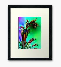 Fractal Cactus Framed Print