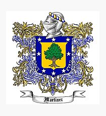 Martinez Family Crest Photographic Print