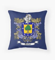 Martinez Family Crest Throw Pillow