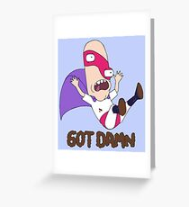 Noob-Noob Got Damn (Rick & Morty) Greeting Card